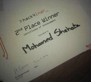 2nd Winner, hack4inar